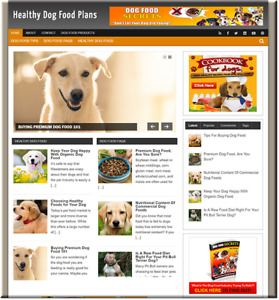 Healthy Dog Food Turnkey Website Business Earn From Affiliate Adsense