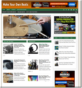 Music Beat Making Turnkey Website Business Earn From Affiliate Adsense