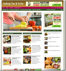 Cooking Recipes Turnkey Website Business Earn From Affiliate Adsense
