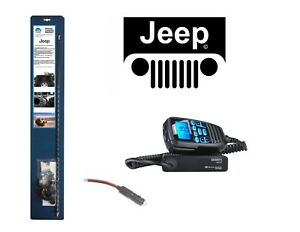 New Uniden Cmx760 Cb Radio 07 Up Jeep Wrangler 3 Antenna Combo Kit W Coax