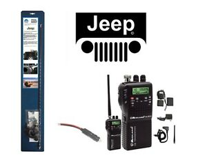 New Midland 75822 Cb Radio 07 Up Jeep Wrangler 3 Antenna Combo Kit W Coax