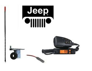 New Uniden Cmx660 Cb Radio 98 06 Jeep 3 Antenna Mount Combo Kit W Coax