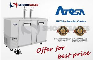Shooksales Los Angeles Atosa Mkc58 Commercial Restaurant Back Bar Coolers Ss