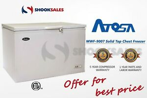 Shooksales New Jersey Atosa Mwf9007 Commercial Solid Top Chest Freezer Ss