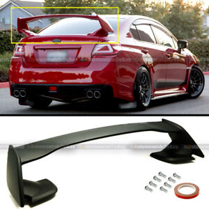 Fits 15 18 Wrx Sti 4dr Sedan Jdm Oe Style Unpainted Abs Rear Trunk Wing Spoiler
