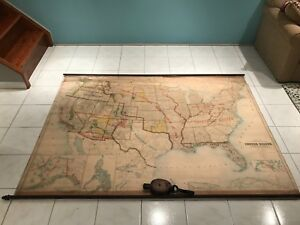 Original 1900 Map Of United States And Insular Possessions By U S Land Office