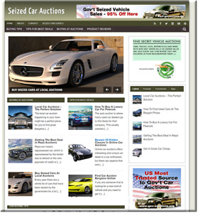 Seized Car Auctions Turnkey Website Business Earn From Affiliate Adsense