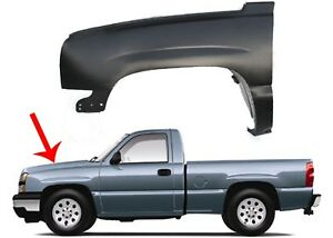 Replacement Driver Side Front Fender For 2003 2006 Chevrolet Silverado New Usa