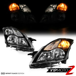 For 07 09 Nissan Altima Sedan Replacement Headlight Black Housing Clear Signal