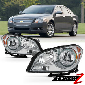 08 12 Chevy Malibu Factory Style Replacement Chrome Headlight Lamp Assembly