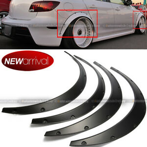 Will Fit Mustang Wheel Fender Flares Wide Body Flexible Abs Plastic Universal