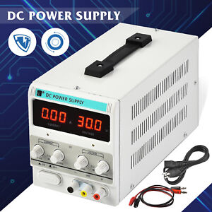 5a 30v Dc Power Supply Adjustable Variable Dual Digital Test Lab
