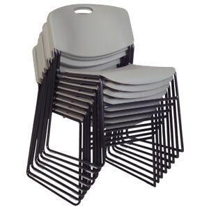Zeng Stack Chair 8 Pack Grey