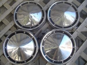 Ford Galaxie Fairlane Ltd Pickup Truck Hubcaps Wheel Covers Center Caps Fomoco