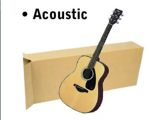 20x8x50 Acoustic Guitar Shipping Packing Boxes Moving Keyboard Heavy Duty