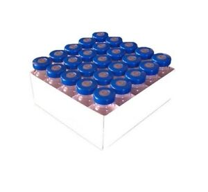10ml Sterile Serum Injection Vials 25pk Blue Seals