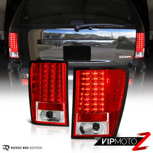 For 07 10 Wk Jeep Grand Cherokee Red Lens Led Tail Lights Brake Parking Lamps