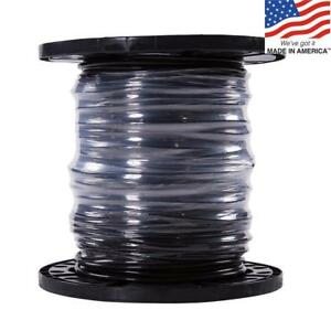 Southwire 20493344 Simpull 500 ft 6 Awg Stranded Black Copper Thhn Wire By roll