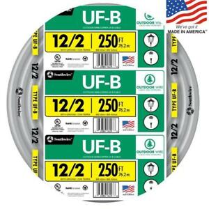 Southwire 13055955 250 ft 12 2 Uf b Wire by the roll New Free Shipping