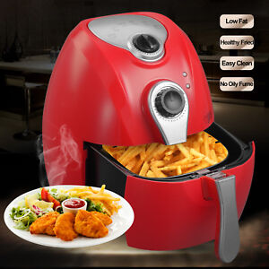 2 7l Electric No Oil Air Fryer Timer Temperature Control With Cooking Presets