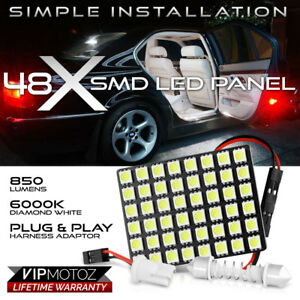 1pc 48 Smd Led Panel Car Suv Interior Dome Ceiling Door Light Bulb T10 Festoon