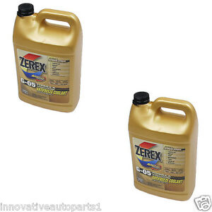2 Gallons Pack Zerex G 05 Engine Coolant Antifreeze For Jaguar Land Rover Toyota