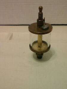 Vintage Brass Glass Drip Oiler Lubricator Hit And Miss Engine