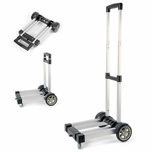 Waygo Aluminum Folding Hand Truck Light Weight Foldable Dolly Folding Cart