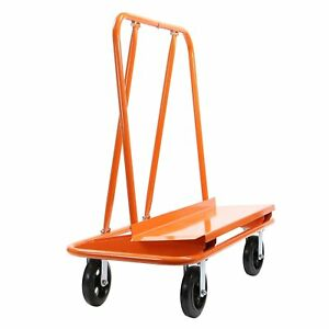 Gyptool Heavy Duty Drywall Sheet Cart Panel Dolly With 4 Swivel Wheels Orange