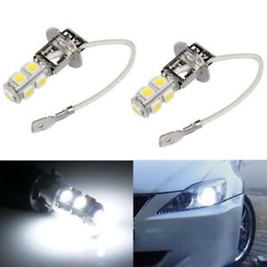 2pcs H3 Led 6000k White 9 5050 Led Bulbs Fog Driving Lamp Lights Vehicle 12v 24v