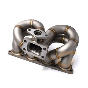 Turbo Manifold Schedule40 T3 38mm Wg For Honda Civic Crx Del Sol D15 D16 Sohc
