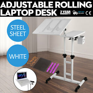 Adjustable Height Rolling Laptop Desk Table Anti slide Stylish High Quality