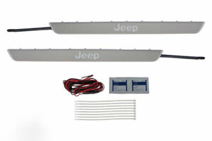11 18 Jeep Grand Cherokee Door Sill Guards Illuminated Jeep Letters Oem Mopar