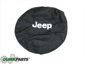 1997 2018 Jeep Wrangler Tire Cover White Logo Mopar Genuine Oem Brand New