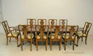 Cherry Dining Room Table And 10 Chairs By Statton Furniture