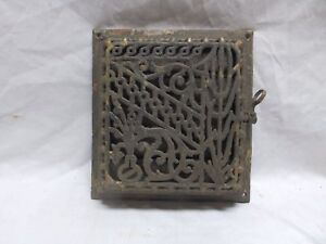 Antique Cast Iron Floor Wall Heat Grate 10x9 Decorative Design Register 352 18p