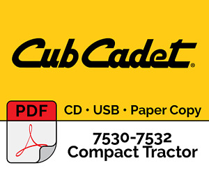 Cub Cadet 7530 7532 Series 7000 Compact Tractor Pdf Usb Cd Hard Copy