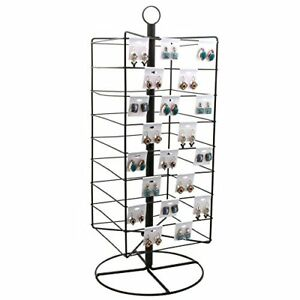 Tall Rotating Metal Earring Card Display Stand