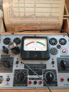 Vintage Radio City Products Ny Tube Set Tester Model 802n W accessories