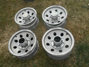 69 87 Chevy K 10 Truck 15x7 4wd Aluminum Alloy Wheels Oem Used