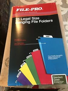 1 Case Of 250ea File pro Legal Size Hanging File Folders 1 5 Cut
