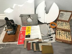 Vintage Kingsley Hot Foil Stamping Machine Works letters Accessories Foils