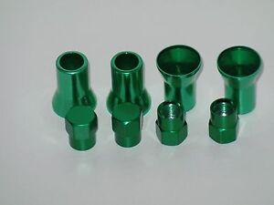 Lot 40 Sets Green Color Cover For Stem And Cap Of Tr413 Tire Valve