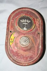 Vintage Farmall H Or M Tractor Dash W Early Ih Logo Amp Gauge 1500786