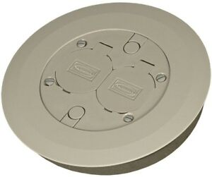 Floor Box Cover Kit Round Gray With 2 Lift Lids For Use With 5511 Floor Box