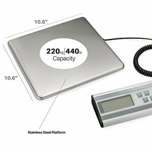 440 Lbs Weigh Digital Heavy Duty Shipping Postal Scale Durable Stainless Steel