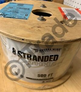 Southwire 20489145 500 ft 8 Awg Stranded White Copper Thhn Wire By roll New Fsh