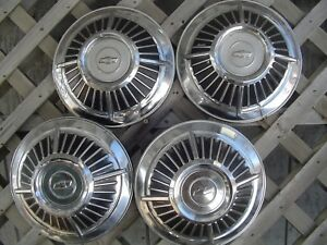 Chevrolet Chevy Impala Bel Air Nomad Biscane Wheel Covers Hubcaps Center Caps