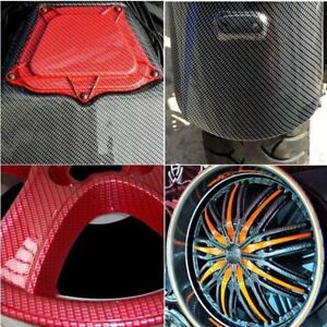 Red Carbon Fiber Hydrographics Dipping Film Water Transfer Printing 1x20m Pva
