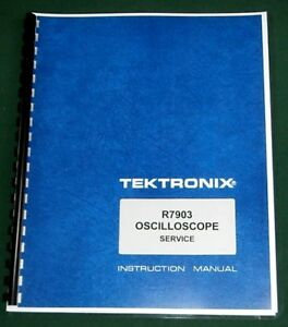 Tektronix R7903 Oscilloscope Manual Comb Bound With 11 x17 Foldouts